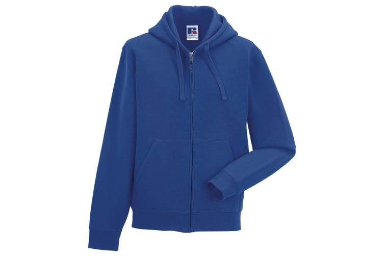 Russell Mens Authentic Full Zip Hooded Sweatshirt / Hoodie (Bright Royal) (3XL)