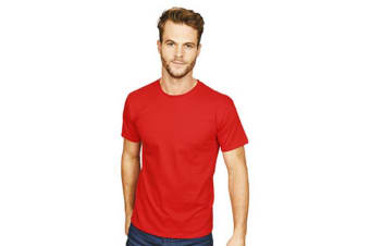 Casual Classic Mens Ringspun Tee (Red)