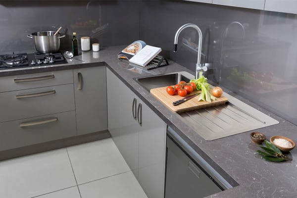 Oliveri Sonetto Double Bowl Topmount Sink With Drainer (SN1072)