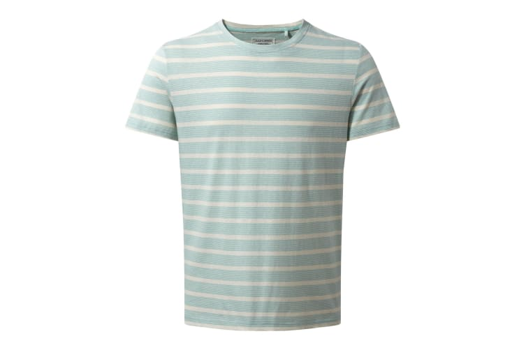 Craghoppers Mens Bernard Short Sleeve Stripe Summer T-Shirt (Light Bondi Stripe) (S)