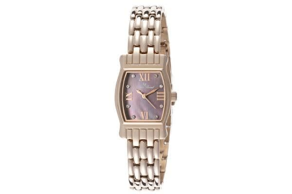 Lucien Piccard Women's Alca Purple Mother Of Pearl Dial Rose Gold Tone Ion Plated Stainless Steel (LP-12384-RG-01MOP)