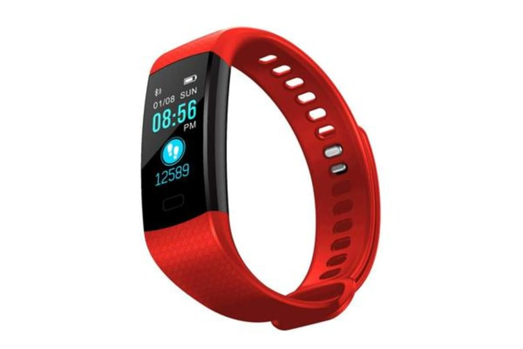 "TODO Bluetooth V4.0 Fitness Band Watch Heart Rate Blood Oxygen Ip67 0.96"" Oled - Red"