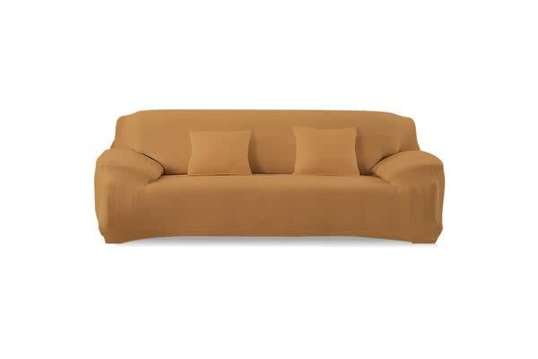 Easy Fit Stretch 4 Seater Sofa Slipcover Cover Coffee
