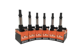 Pack of 6 - SWAN Ignition Coils & NGK Spark Plugs for Saab 9-3 (2.8T)