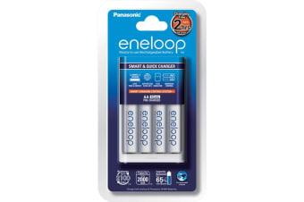 Panasonic 1-4 AA/AAA Cell Smart Quick Battery Charger Safety Timer Control
