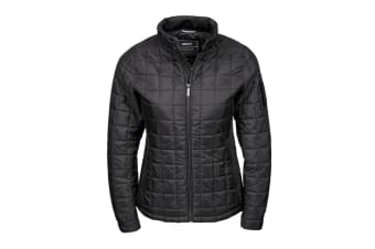 Tee Jays Womens/Ladies Berlin Square Quilted Jacket (Black) (XL)