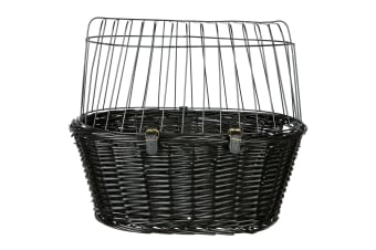 Trixie Lattice Bicycle Basket  With Cushion (Black)