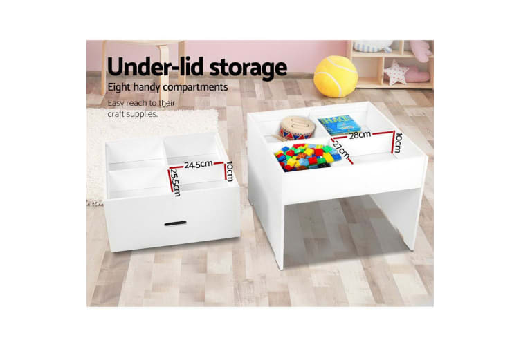 Artiss Kids Table Set and Chairs Storage Activity Play Desk Children Furniture