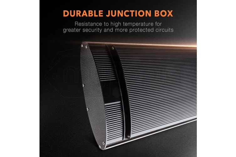 2 X 2400W BIO Outdoor Strip Heater Patio Electric Radiant Outside Efficient