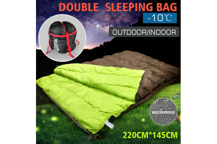 Mountview -20°C Double Outdoor Camping Thermal Sleeping Bag Envelope Tent Hiking