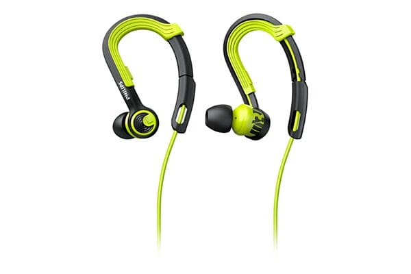 Philips ActionFit EarHook Sports Headphones - Carbon/Lime (SHQ3400CL)