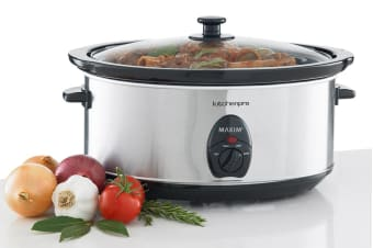 Maxim 6.5L Stainless Steel Slow Cooker (NSC-650)