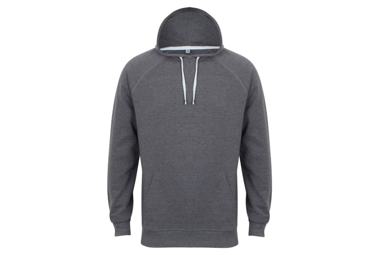 Front Row Mens Slim Fit French Terry Hoodie (Charcoal Marl) (XS)