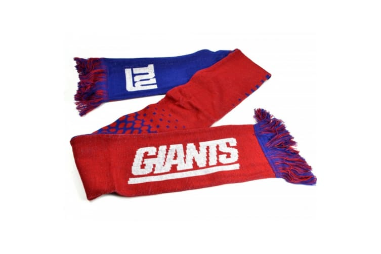 New York Giants Official NFL Fade Design Scarf (Red/Blue) (One Size)