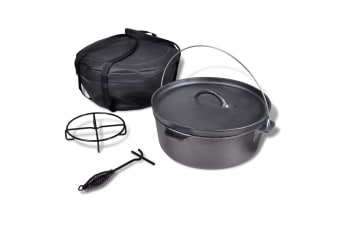 vidaXL Dutch Oven 11.3 L including Accessories