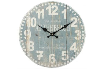 Something Different 34cm Blue Beach Clock (Blue) (One Size)