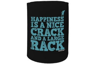 123t Stubby Holder - AA happiness is a nice crack ROCK CLIMBING - Funny Novelty
