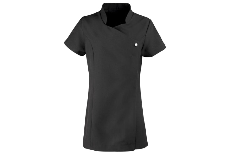 Premier Ladies/Womens *Blossom* Tunic / Health Beauty & Spa / Workwear (Pack of 2) (Black) (20)