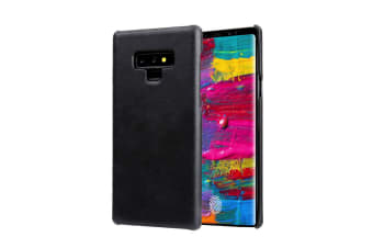 For Samsung Galaxy Note 9 Case Genuine Leather Back Thin Phone Cover Black