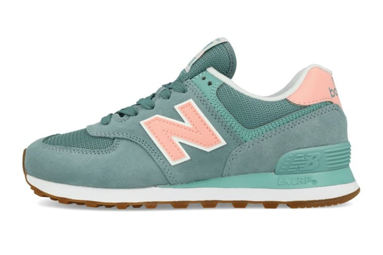 New Balance Women's 574 Shoe (Smoke Blue, Size 8)