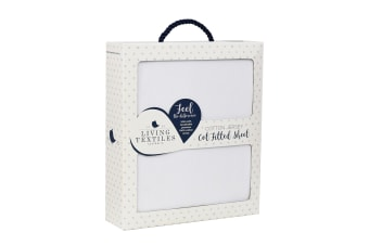 Living Textiles Jersey Cot Fitted Sheet White