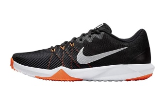 Nike Men's Retaliation TR Shoes (Black/Metallic Silver/Hyper Crimson, Size 10 US)