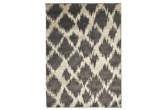 Morrocan Diamond Design Rug Charcoal 290x200cm