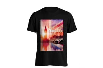 The T-Shirt Factory Mens Big Ben London UK T-Shirt (Black) (S)