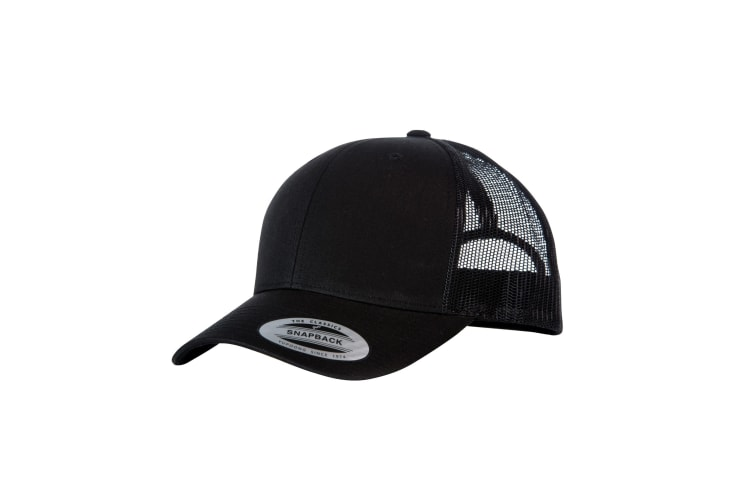 Yupoong Flexfit Retro Snapback Trucker Cap (Pack of 2) (Black/Black) (One Size)