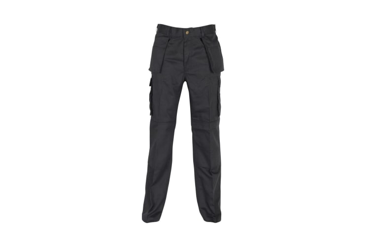 Absolute Apparel Mens Workwear Utility Cargo Trouser (Black) (28L)