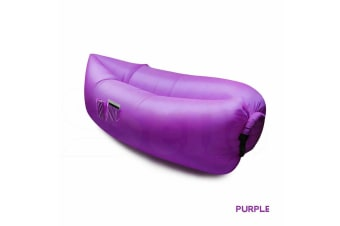 Inflatable Swimming Pool Air Bag Sofa Lounge Sleeping Bag Bed Beach Couch Purple