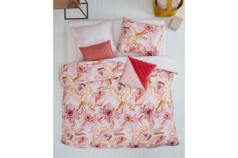 Rose Dust Pink Cotton Sateen Quilt Cover Set by Oilily