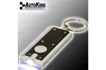 AUTOKING COMPACT MICRO KEYRING KEY RING TORCH LED FLASHLIGHT LIGHT NEW LEDKRBLK