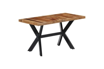 vidaXL Dining Table 140x70x75 cm Solid Sheesham Wood