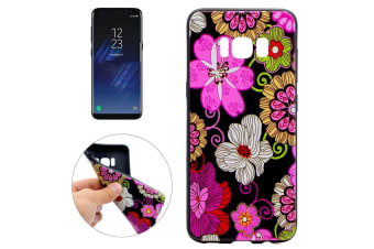 For Samsung Galaxy S8 Case Elegant Colorful Flower Soft Durable Protective Cover