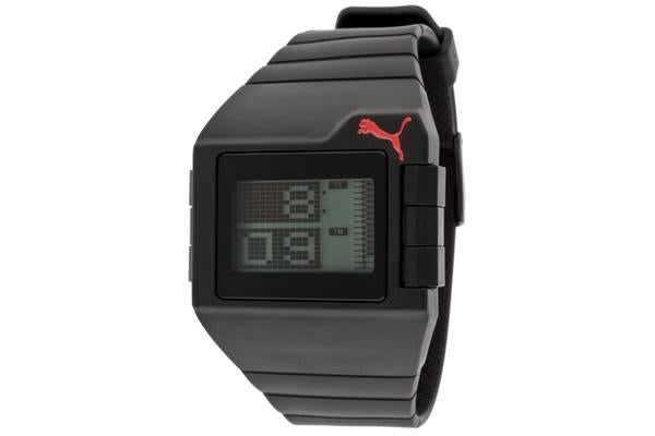 Puma Men's Don't Run Out Of Steam Multi-Function Gray Digital Dial Black Silicone (PUMA-PU910861005)