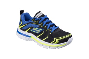 Skechers Childrens Boys SK95356L Nitrate Ultra Blast Sports Shoes/Trainers (Black/Blue) (12.5 UK Junior)