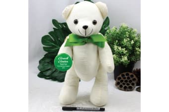 Personalised Coach Signature Bear - Green Bow