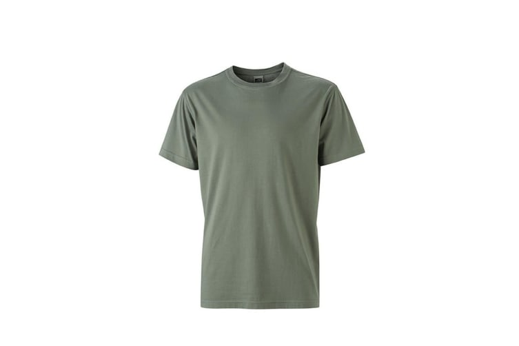 James and Nicholson Mens Workwear T-Shirt (Dark Grey) (M)