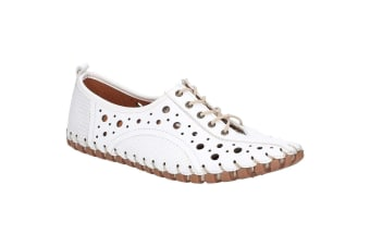 Riva Womens/Ladies Haiti Lace Up Leather Shoe (White)