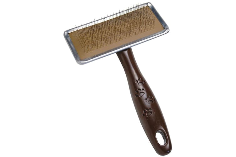 Gloria Slicker Brush For Dogs (Brown) (S)