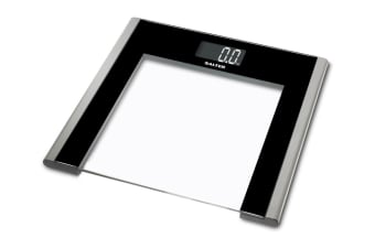 Salter Ultra Slim Glass Electronic Bathroom Scale (9050SVBK3R)