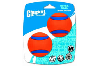 Ultra Medium Chuck It Dog & Puppy Ball 2 Pack - 6cm (ChuckIt)