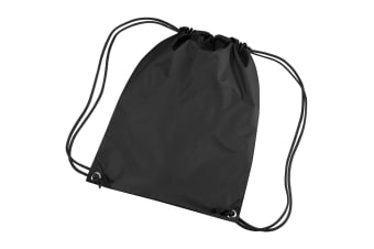 Bagbase Premium Gymsac Water Resistant Bag (11 Litres) (Pack of 2) (Black) (One Size)