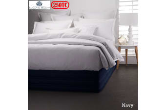 Easy Fit Valance Navy KING