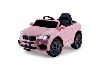 ROVO KIDS Ride-On Car BMW X5 Inspired Electric Toy Battery Remote 12V Pink