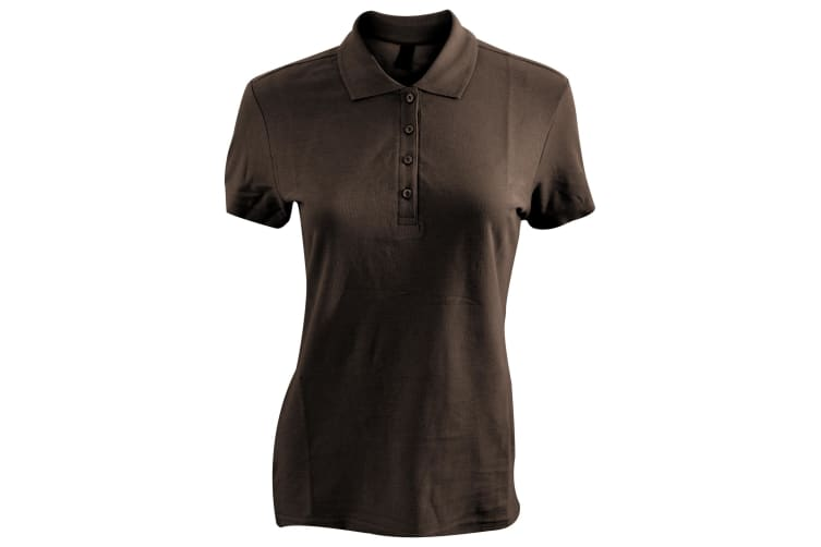 SOLS Womens/Ladies Passion Pique Short Sleeve Polo Shirt (Chocolate) (S)