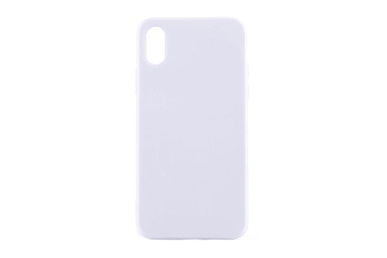 For iPhone XS X Case Elegant Solid Durable Grippy Protective Cover White