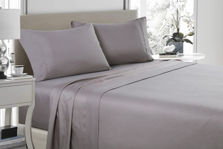 Royal Comfort 1200TC Ultrasoft Microfibre Bed Sheet Set (Queen, Charcoal)