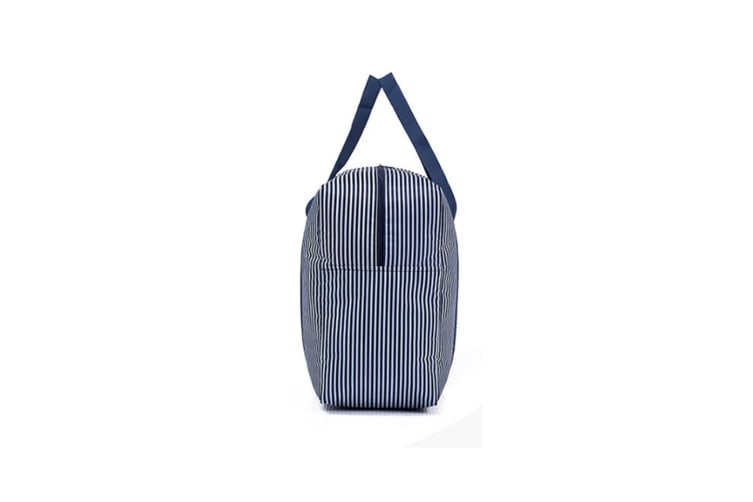 Waterproof Foldable Traveling Bag With Large Capacity Finishing Bag - Navy Stripes Blue L
